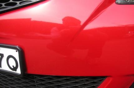 Front Bumper Dent After