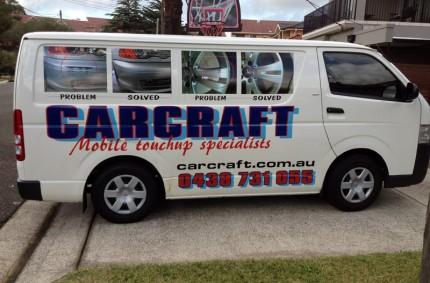 Carcraft Mobile Touchups Pty Ltd Van On-Site