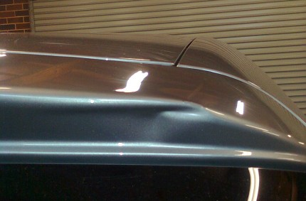 Mercedes Rear Spoiler Damage